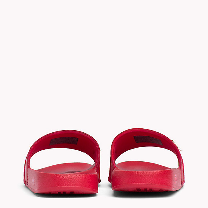 TOMMY HILFIGER Leather Beach Sliders - WHITE - TOMMY HILFIGER Women - detail image 2