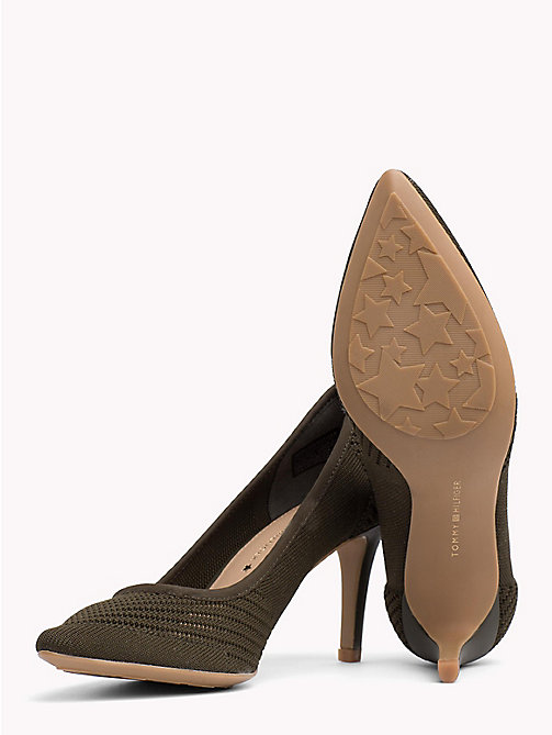 TOMMY HILFIGER Knitted Pointed Pumps - DUSTY OLIVE - TOMMY HILFIGER Shoes - detail image 1