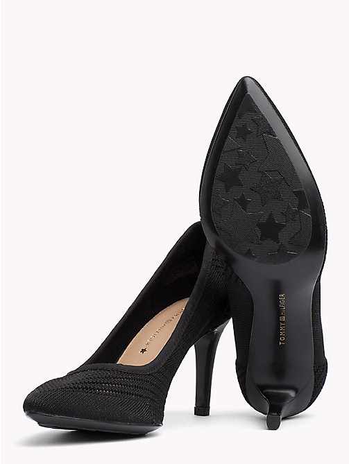 TOMMY HILFIGER Knitted Pointed Pumps - BLACK - TOMMY HILFIGER Shoes - detail image 1
