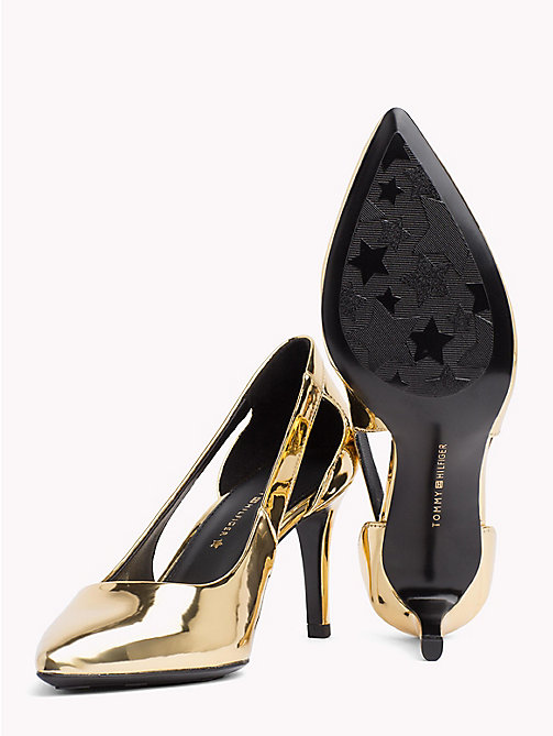 TOMMY HILFIGER Mirror Metallic Cut-Out Heels - LIGHT GOLD - TOMMY HILFIGER Shoes - detail image 1