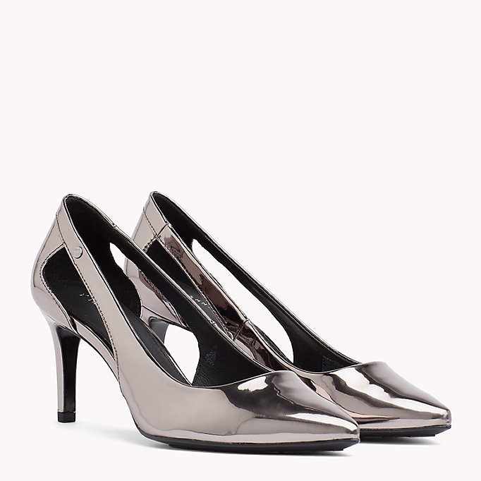 TOMMY HILFIGER Mirror Metallic Cut-Out Heels - LIGHT GOLD - TOMMY HILFIGER Women - main image