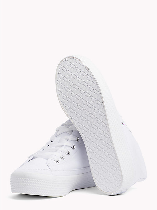 TOMMY HILFIGER Mid-Cut Flatform Trainers - WHITE - TOMMY HILFIGER VACATION FOR HER - detail image 1