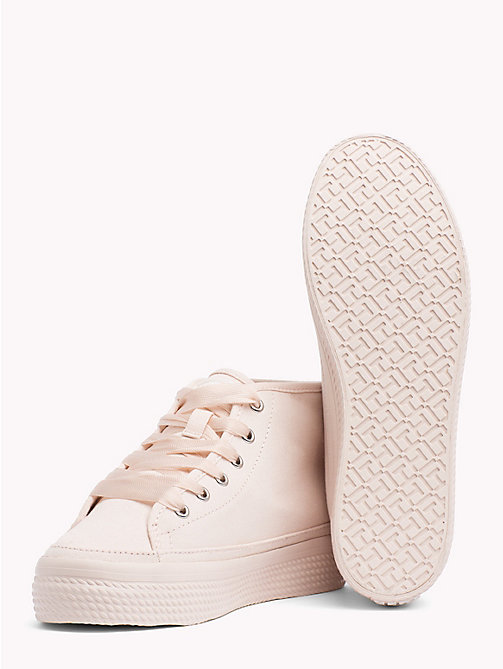 TOMMY HILFIGER Mid-Cut Flatform Trainers - SILVER PEONY - TOMMY HILFIGER VACATION FOR HER - detail image 1