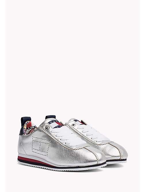 TOMMY JEANS Tommy Jeans Leather Sneakers - SILVER - TOMMY JEANS WOMEN - main image