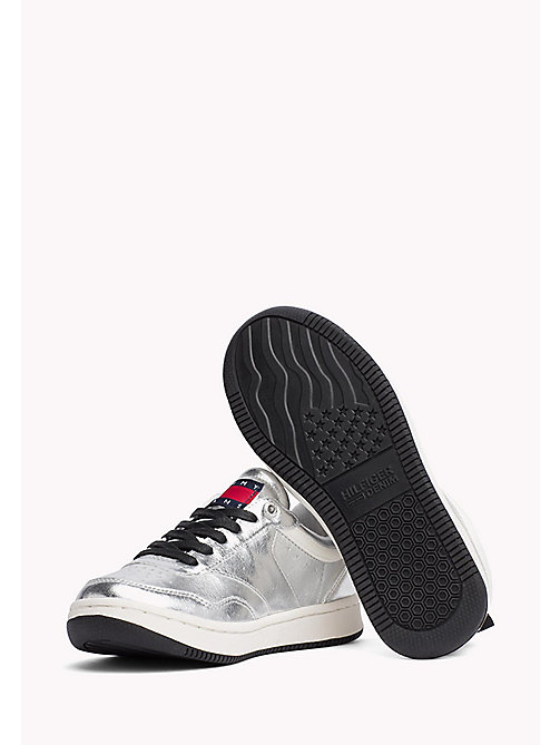 TOMMY JEANS Metallic Sneakers - SILVER - TOMMY JEANS WOMEN - detail image 1