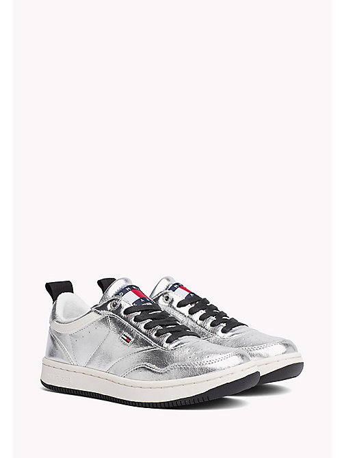 TOMMY JEANS Metallic Sneakers - SILVER - TOMMY JEANS WOMEN - main image