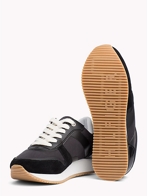 TOMMY HILFIGER Sneaker aus Textil mit Metallic-Detail - BLACK - TOMMY HILFIGER Shoes - main image 1