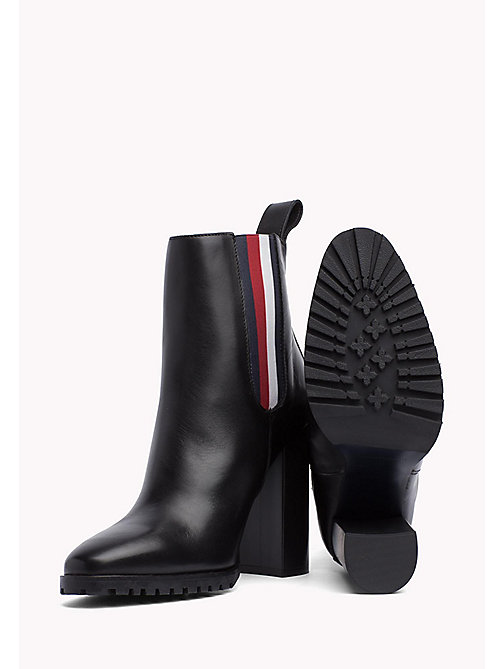 TOMMY HILFIGER Gigi Hadid Heeled Ankle Boot - BLACK - TOMMY HILFIGER Best Sellers - detail image 1