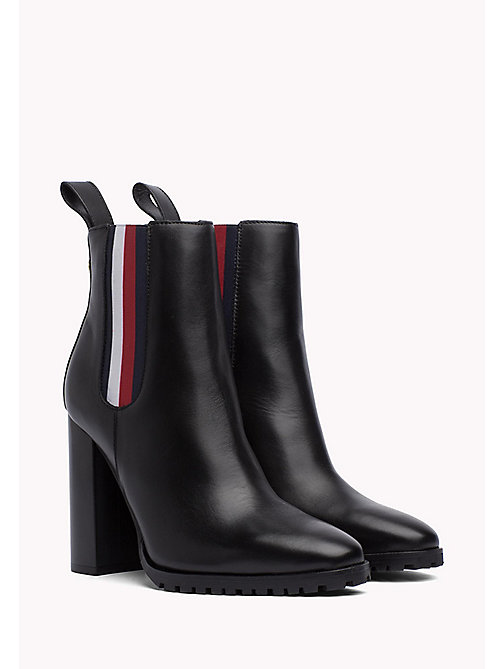 TOMMY HILFIGER Gigi Hadid Heeled Ankle Boot - BLACK - TOMMY HILFIGER Best Sellers - main image