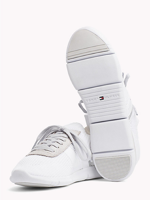 TOMMY HILFIGER Knitted Lightweight Trainers - WHITE - TOMMY HILFIGER VACATION FOR HER - detail image 1