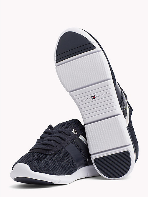 TOMMY HILFIGER Knitted Lightweight Trainers - MIDNIGHT - TOMMY HILFIGER VACATION FOR HER - detail image 1