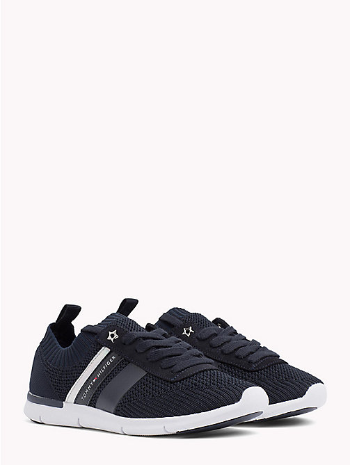 TOMMY HILFIGER Knitted Lightweight Trainers - MIDNIGHT - TOMMY HILFIGER VACATION FOR HER - main image