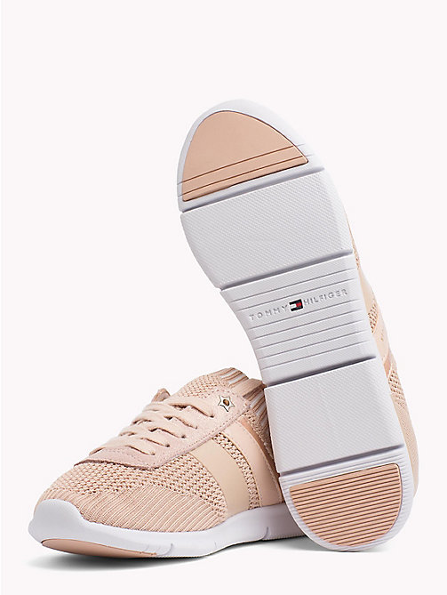 TOMMY HILFIGER Knitted Lightweight Trainers - DUSTY ROSE - TOMMY HILFIGER VACATION FOR HER - detail image 1