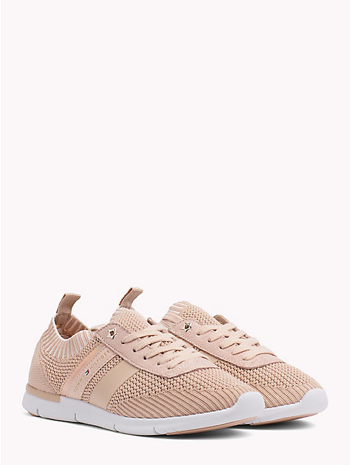 TOMMY HILFIGER Knitted Lightweight Trainers - DUSTY ROSE - TOMMY HILFIGER VACATION FOR HER - main image