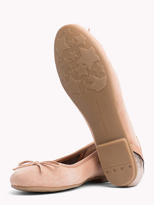 TOMMY HILFIGER Metallic Star Suede Ballerina Flats - SILKY NUDE - TOMMY HILFIGER Best Sellers - detail image 1