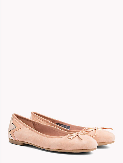 TOMMY HILFIGER Metallic Star Suede Ballerina Flats - SILKY NUDE - TOMMY HILFIGER Best Sellers - main image