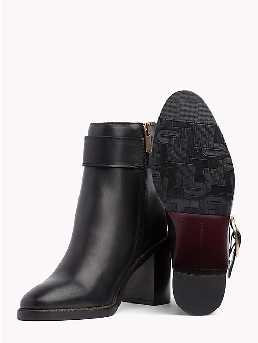 TOMMY HILFIGER Block Heel Buckle Boots - BLACK - TOMMY HILFIGER The shoe edit - detail image 1