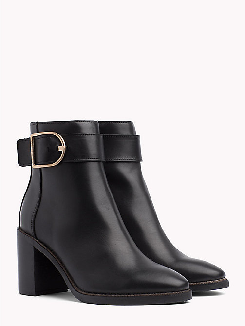 TOMMY HILFIGER Block Heel Buckle Boots - BLACK - TOMMY HILFIGER The shoe edit - main image