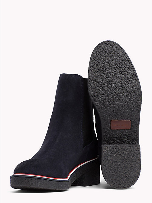 TOMMY HILFIGER Suede Slip-On Ankle Boots - MIDNIGHT - TOMMY HILFIGER Shoes - detail image 1
