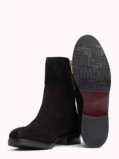 TOMMY HILFIGER Monogram Embellished Ankle Boots - BLACK - TOMMY HILFIGER Shoes - detail image 1