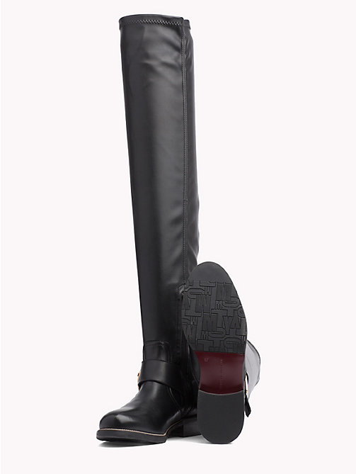 TOMMY HILFIGER Over-The-Knee Statement Buckle Boot - BLACK - TOMMY HILFIGER The shoe edit - detail image 1