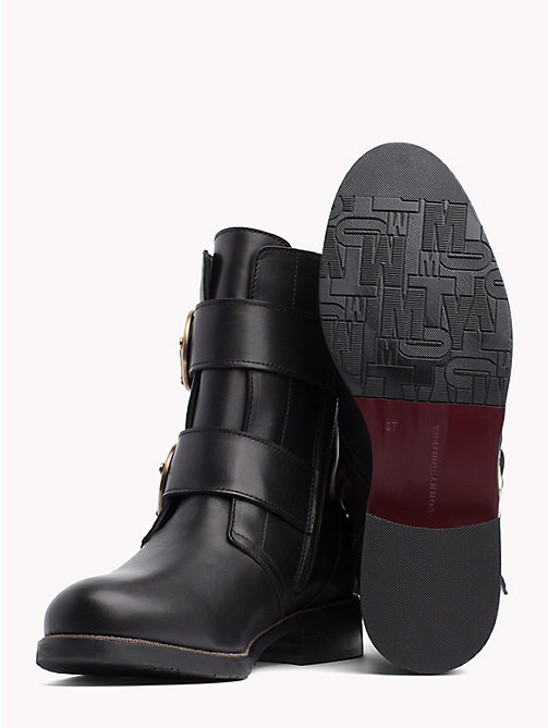 TOMMY HILFIGER Statement Buckle Boots - BLACK - TOMMY HILFIGER The shoe edit - detail image 1
