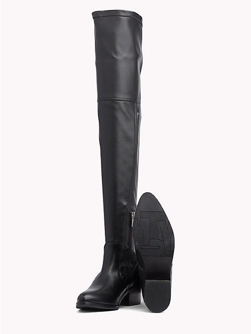 TOMMY HILFIGER Classic Over-Knee Boots - BLACK - TOMMY HILFIGER Shoes - detail image 1