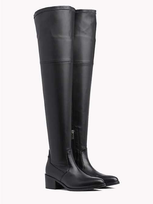 TOMMY HILFIGER Classic Over-Knee Boots - BLACK - TOMMY HILFIGER Shoes - main image