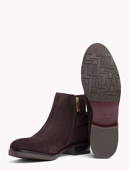 TOMMY HILFIGER Buckle Suede Low Boots - EBONY - TOMMY HILFIGER Ankle Boots - detail image 1