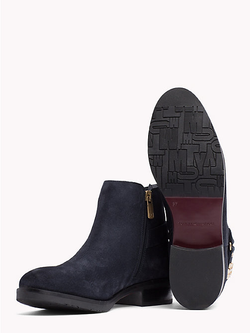 TOMMY HILFIGER Buckle Suede Low Boots - MIDNIGHT - TOMMY HILFIGER Ankle Boots - detail image 1