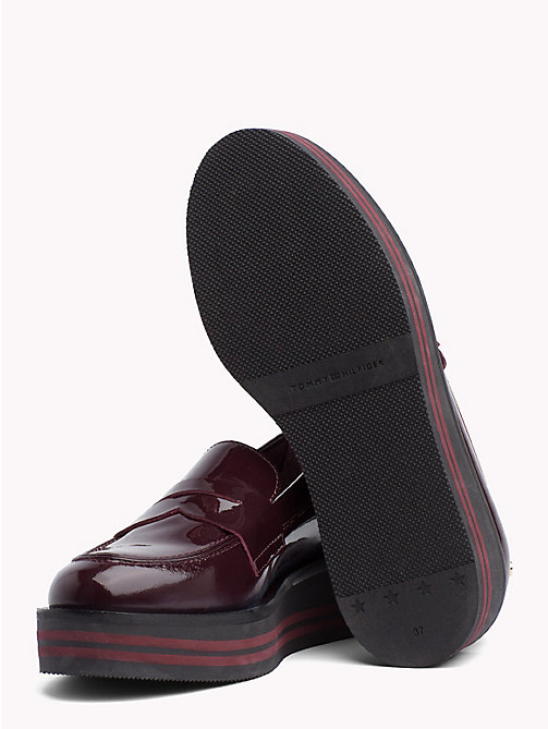 TOMMY HILFIGER Patent Flatform Loafers - DECADENT CHOCOLATE -  Moccasins & Loafers - detail image 1
