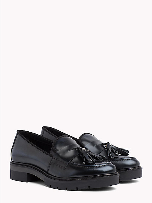 TOMMY HILFIGER Metallic Leather Tassel Loafers - MIDNIGHT - TOMMY HILFIGER Shoes - main image