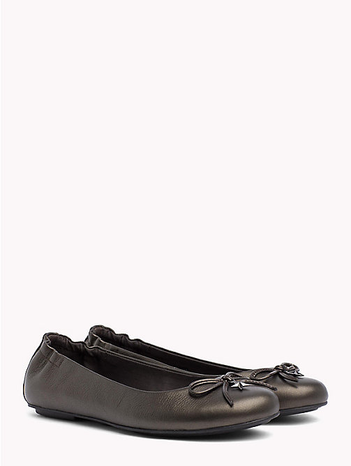 TOMMY HILFIGER Star Flexible Ballerina Shoes - GUNMETAL - TOMMY HILFIGER Ballerina Shoes - main image