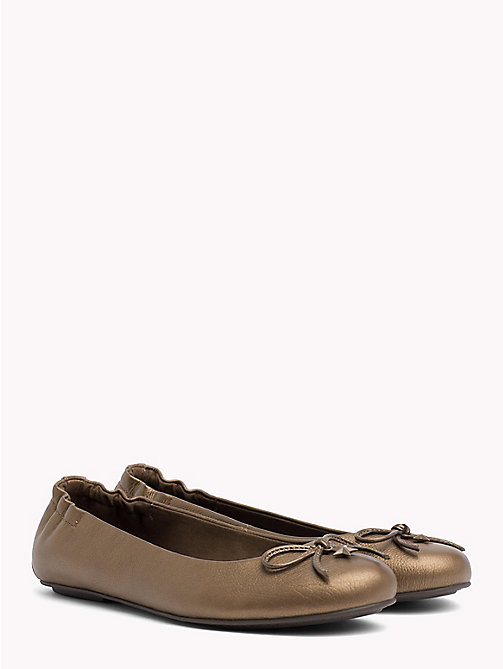 TOMMY HILFIGER Star Flexible Ballerina Shoes - SEPIA - TOMMY HILFIGER Ballerina Shoes - main image