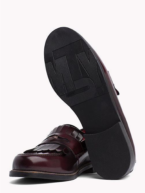 TOMMY HILFIGER Fringed Penny Bar Loafers - DECADENT CHOCOLATE - TOMMY HILFIGER Moccasins & Loafers - detail image 1