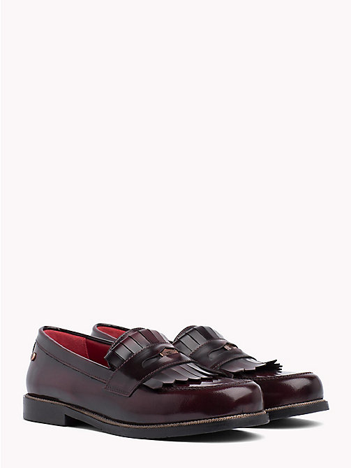 TOMMY HILFIGER Fringed Penny Bar Loafers - DECADENT CHOCOLATE - TOMMY HILFIGER Shoes - main image
