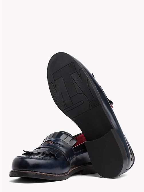 TOMMY HILFIGER Fringed Penny Bar Loafers - TOMMY NAVY - TOMMY HILFIGER Moccasins & Loafers - detail image 1