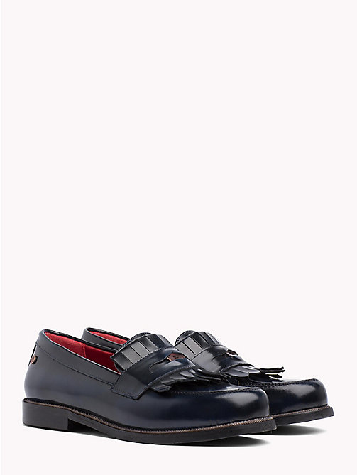 TOMMY HILFIGER Fringed Penny Bar Loafers - TOMMY NAVY - TOMMY HILFIGER Moccasins & Loafers - main image
