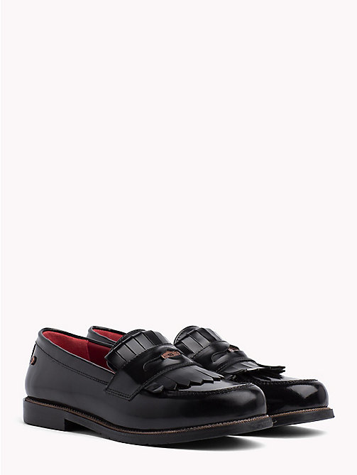 TOMMY HILFIGER Fringed Penny Bar Loafers - BLACK - TOMMY HILFIGER Shoes - main image
