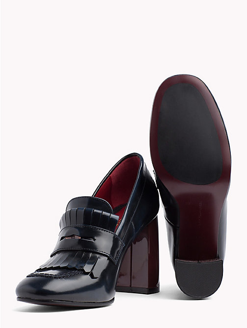 TOMMY HILFIGER Fringed Penny Bar Pumps - TOMMY NAVY - TOMMY HILFIGER Shoes - detail image 1