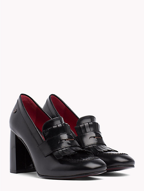 Fringed Penny Bar Pumps - BLACK - TOMMY HILFIGER Pumps - main image