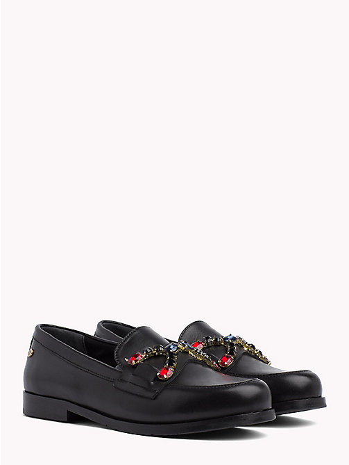 TOMMY HILFIGER Jewel Embellished Loafers - BLACK - TOMMY HILFIGER Shoes - main image