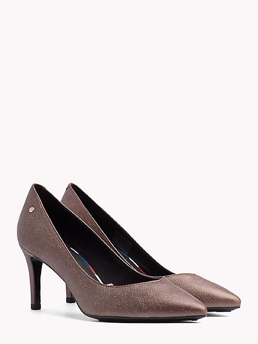 TOMMY HILFIGER Metallic Leather Pumps - NUTMEG - TOMMY HILFIGER Shoes - main image