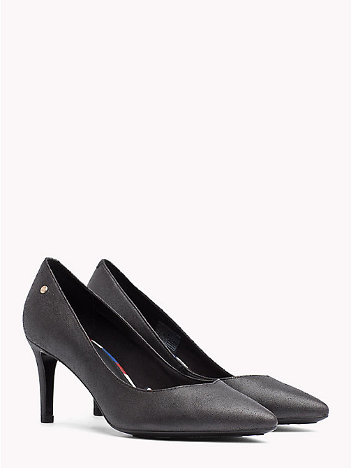 TOMMY HILFIGER Metallic Leather Pumps - BLACK - TOMMY HILFIGER Shoes - main image