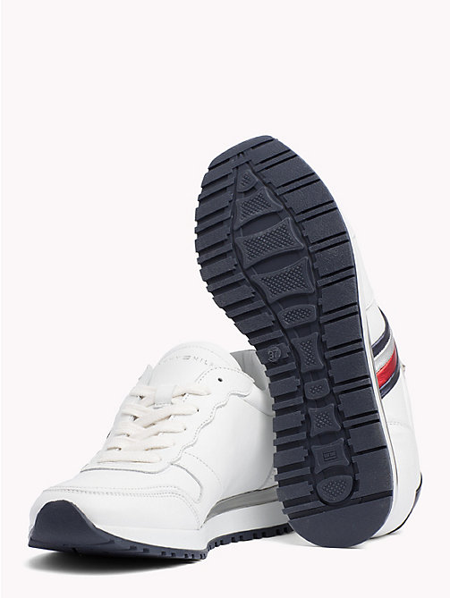 TOMMY HILFIGER Retro Sport Leather Trainers - RWB - TOMMY HILFIGER Trainers - detail image 1