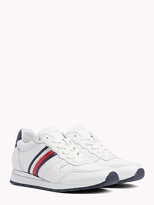 TOMMY HILFIGER Retro Sport Leather Trainers - RWB - TOMMY HILFIGER Trainers - main image