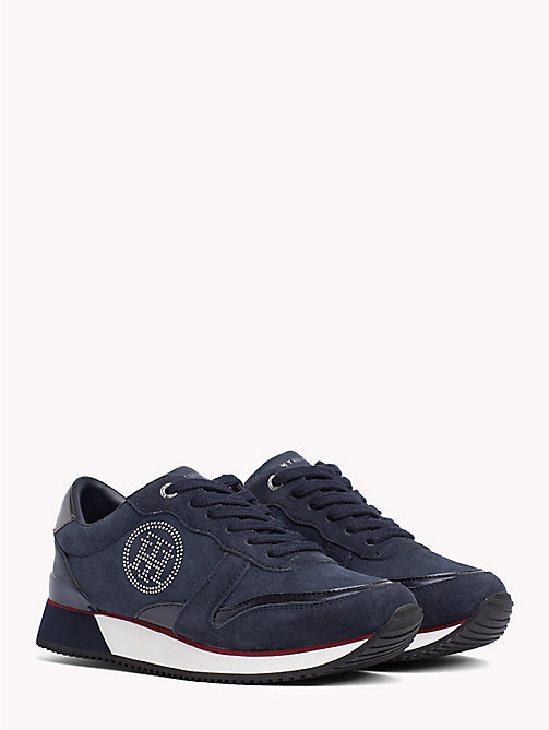 TOMMY HILFIGER Stud Monogram City Trainers - RWB - TOMMY HILFIGER Shoes - main image