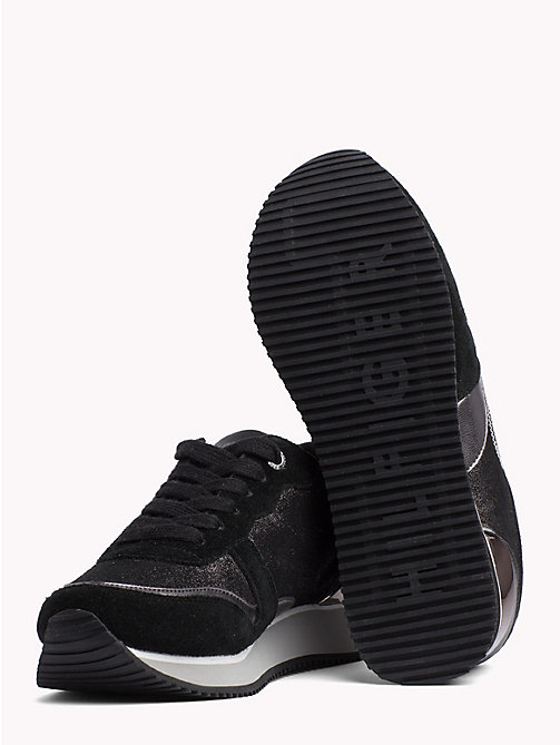 TOMMY HILFIGER Stud Monogram City Trainers - BLACK - TOMMY HILFIGER Trainers - detail image 1