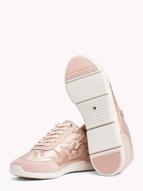 TOMMY HILFIGER Metallic Light Trainers - MAHOGANY ROSE - TOMMY HILFIGER Trainers - detail image 1