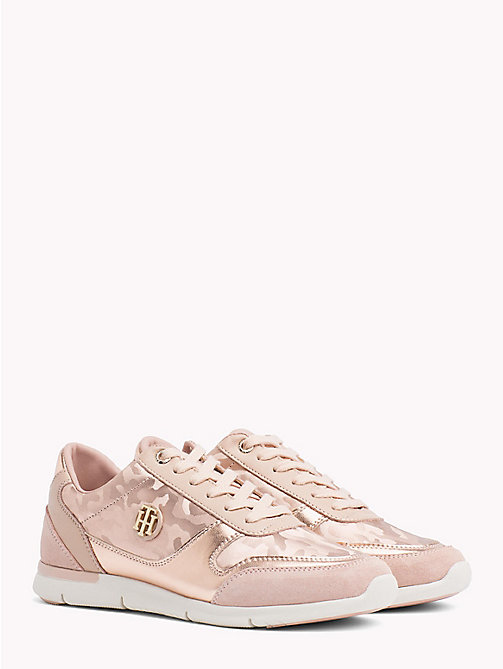TOMMY HILFIGER Metallic Light Trainers - MAHOGANY ROSE -  Trainers - main image